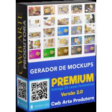 Gerador de Mockup de Canecas Premium